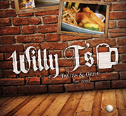 Willy T's Restaurant Graphic Design